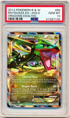 2012 Pokemon Black /& White Dragons Exalted Rayquaza EX #85 PSA 10 POP 23 QTY