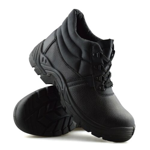 Mens New Leather Safety Steel Toe Cap Ankle Hiker Work Boots Trainers Shoes Size