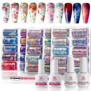 Makartt-Nail-Art-Foil-Glue-Gel-with-Flower-Starry-Sky-Star-Foil-Stickers-Set-Nai