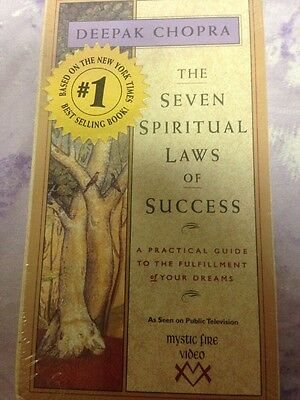 Deepak Chopra - Seven Spiritual Laws of Success (VHS, 1995) Brand New