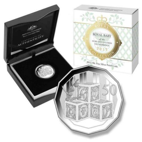 2015 Royal Baby The Princess Charlotte Australian 50c Pure Silver Proof Coin RAM