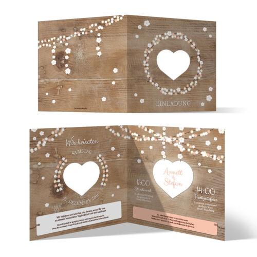 Laser Cut Wedding Invitation Card Wedding his Cargo Wooden Light Garland