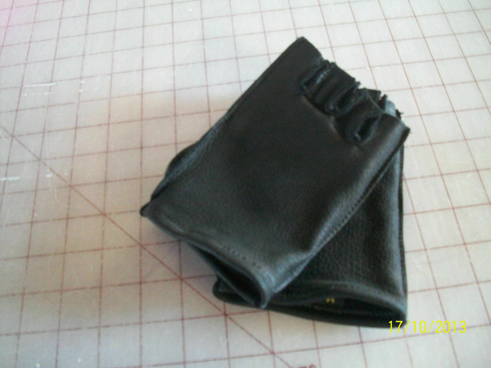 Black Deerskin Leather Fingerless Gloves - Made in the USA