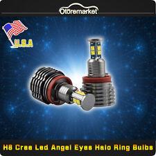 For BMW 160W H8 CREE LED Angel Eye Halo Ring Bulbs 6000k White E90 E92 E93 E60