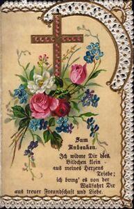 Maria-Celula-Wallfahrt-Cuadro-Santos-Klosterarbeit-1898-Koloriert-O-5990