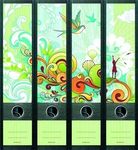 File Art 4 Design Ordner-Etiketten Springtime................................456