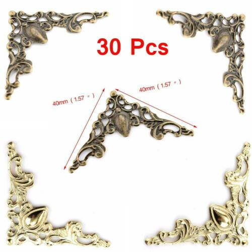 Métal 30Pcs Album Photo Scrapbook coin protections Crochets Livre Dossier Frame
