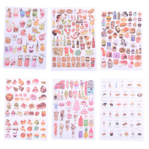 2Sheets-Creative-Food-Drinks-Diary-Scrapbooks-Decorations-DIY-Stickers-Toys-GiBN