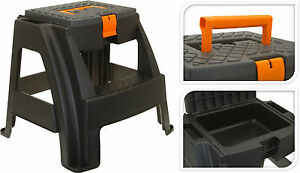 Image Is Loading Sturdy Step Stool Seat With Storage Compartment 2