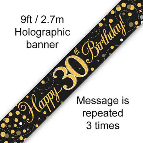Happy 30th Birthday Party Decorations Oaktree AGE 30th Banners /& Bunting