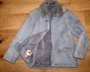 Sheepskin Of Size Glastonbury Thick Coat 97cm Warm 16 shearling Grey Bailys gaqfg