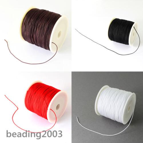 135m//Rollo De 0.5mm de diámetro Hilos de perlón Joyería Beading Cuerdas Hilos de coser