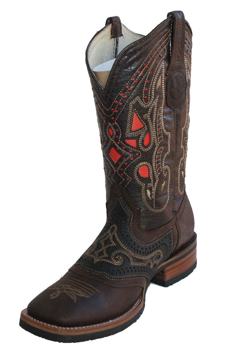 Cuero para Hombre botas De Vaquero Animal Print Precio Especial verdeHALI