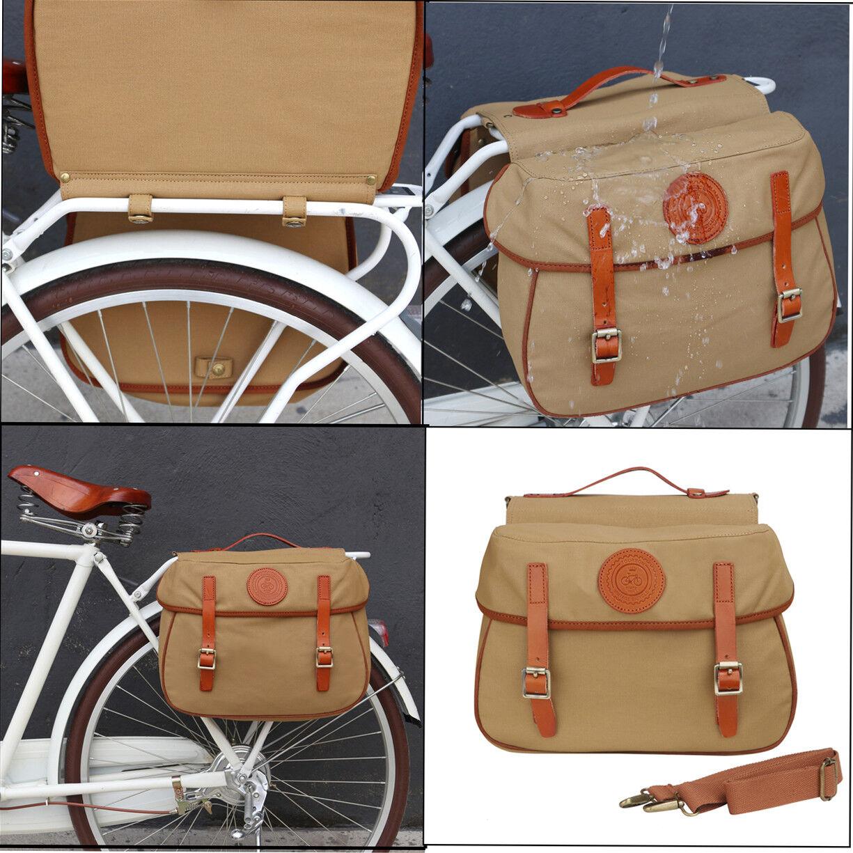 Tourbon Bicicleta Ciclismo Alforja Doble Bolsa Portaequipajes Trasero Impermeable De Lona de viaje de tronco