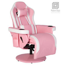 High Back Gaming Chair With Footrest Office Recliner Swivel Desk Chair