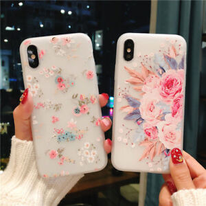 online retailer 95bc3 1a3bb Details about For iPhone 7 6s 8 Plus X XS Max XR Clear Case Girly Cute Slim  Fit Soft TPU Cover