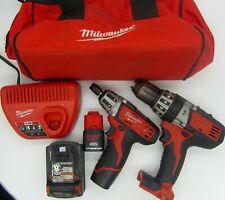 Milwaukee 2602 20 18 V 12 Hammer Drill Amp 12v Driver Set 6 Tool Combo Kit