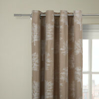 John Lewis Oakley Trees Eyelet Top Lined Curtains -white- 90wx54d/228cmx136cm