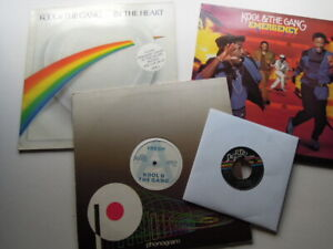 KOOL-AND-THE-GANG-LOT-12-034-PROMO-FRESH-LP-039-s-EMERGENCY-amp-IN-THE-HEART-amp-45-EX