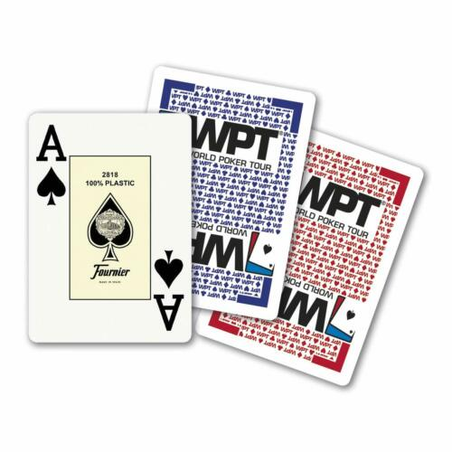 Fournier Poker Gold Edition World Poker Tour Plástico Baralho Deck Jumbo Vermelho