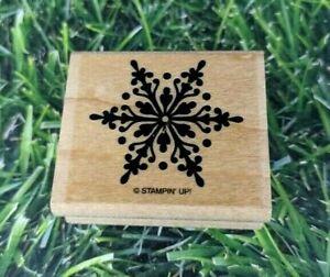 SNOWFLAKE Stampin/' Up! Wood Mounted Rubber Stamp