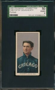 1909 - 1911 T206 Patsy Dougherty Portrait 150 Subjects Piedmont SGC 4 Not PSA