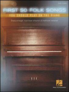 50 Premières Chansons Folkloriques Vous Devriez Jouer Sur Le Piano Facile Partitions Livre-afficher Le Titre D'origine
