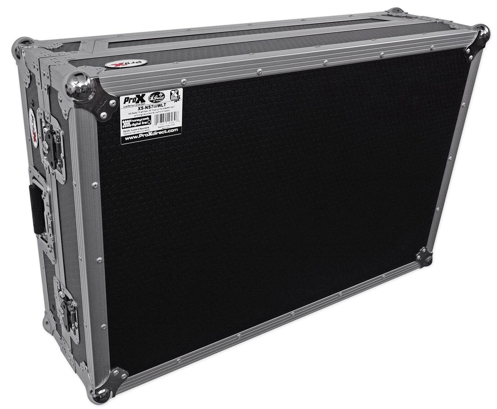 Pro X XS-NS7IIIWLT Flight Case 4 Numark NS7III   NS7 III II 2 3 w  Laptop Shelf