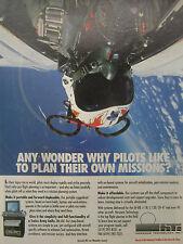 5/1991 PUB HORIZONS TECHNOLOGY PRE FLIGHT PLANNING PILOT HELMET ORIGINAL AD