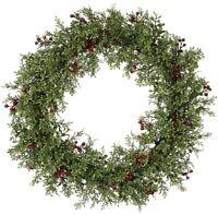20  Wreath Mini Leaf Berry Wreath Holiday Door Decor