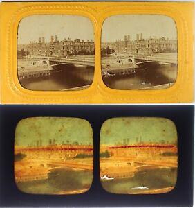 Francia-Parigi-Hotel-De-Ville-IN-Rovine-Foto-Stereo-Diorama-Albumina-Ca-1871