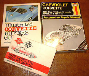 corvette service book owners manual 1972 72 bonus buyers guide 3 rh ebay com 73 Corvette 73 Corvette
