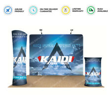 10ft Tension Fabric Back Wall Trade Show Display Pop Up Stand Banner Sign Booth