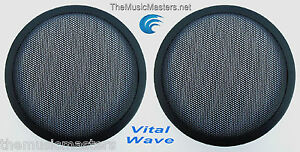 2X-6-5-034-inch-Sub-Woofer-Clipless-Fine-Mesh-GRILL-Speaker-Protective-Covers-VWLTW