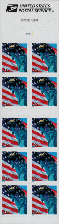 2006 39c Statue of Liberty & Flag, SA, Booklet of 10 Sc