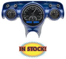 Dakota Digital 57 Chevy Car VHX Instrument Gauges Black with White VHX-57C-K-W