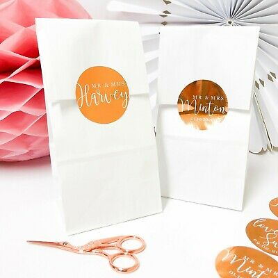 Personalised Sweet Bags Candy Cart Wedding Favours