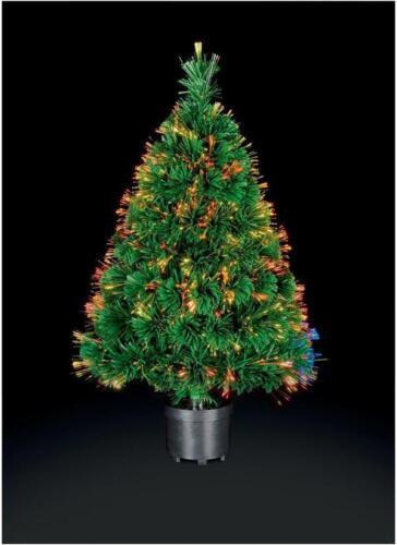 60cm Fibre Optic Crystal Tip Xmas Tree White Sparkle Festive Effect