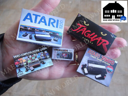 Cajas miniatura.Escala 1//12.2600,5200,Jaguar.. 5 Atari Vintage miniature pack