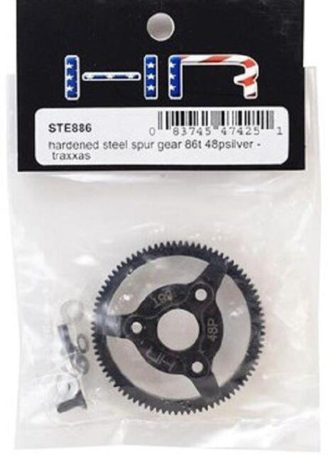 Hot-Racing STE886 Steel 86T 48P Spur Gear Slash Silver New!