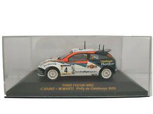 1-43-FORD-FOCUS-WRC-SAINZ-2002-IXO-RALLY-CAR-COCHE-METAL-ESCALA-SCALE-DIECAST