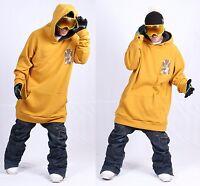 December Long Tall Hoodie Ski Snowboard-basic Mustard