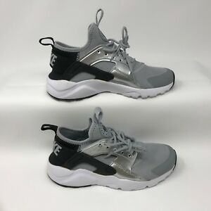 9ce47c6647d6 Nike 847568-009 Youth Air Huarache Run Ultra Shoes Black Wolf Grey ...