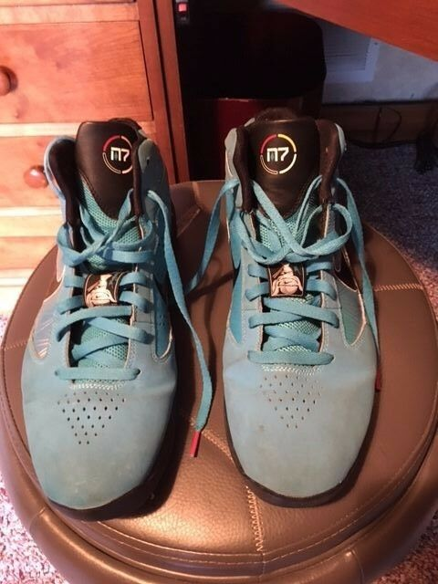 NIKE M7 FLYWIRE US 14 BASKETBALL SHOES.  Slightly used