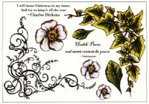 CREATIVE EXPRESSIONS U Mount Stamps IVY Christmas Charles Dickens Health Peace
