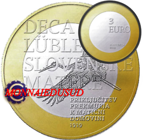 3-Euro-Commemorative-Slovenie-2019-Annexion-de-la-Region-de-Prekmurje