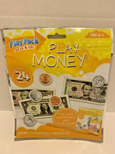 NEW Bendon  24 PC Play Money  Pre K1 Play Pack Grab /& Go!