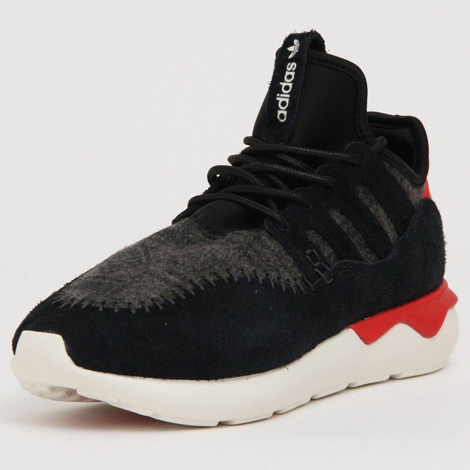 adidas B24693 Tubular Moccasin Runner Running Sneaker Black & Tomato Red 11 NWT