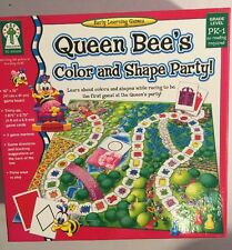 Kids Educational Board Game Queen Bees Color & Shape Party Early Learning PreK-1
