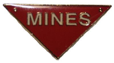 military pin mines triangle eod   eBay